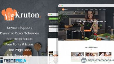 Kruton – Bakery and Cooking Classes WordPress Theme [Updated Version]