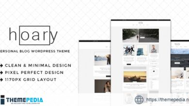 Hoary – Minimal Blog WordPress Theme [Free download]