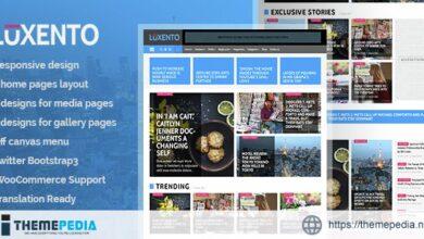 Luxento – Magazine WordPress theme [Free download]