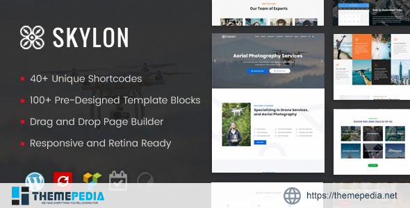 Skylon – Drone Aerial Photography & Videography WordPress Theme [Free download]