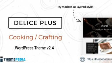 Delice Plus Cooking or Crafting WP Theme • by CookPress [Free download]