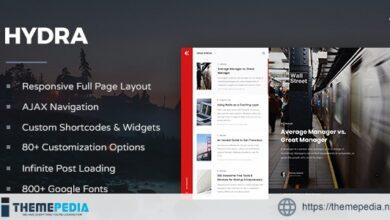 Hydra – Responsive WordPress Blog Theme [nulled]