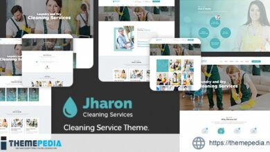 Jharon – Cleaning Service WordPress Theme + RTL [Free download]