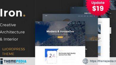 Iron – Architecture, Interior and Design WordPress Theme [Free download]