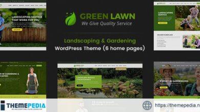 Green Lawn – Landscaping WordPress Theme [Free download]