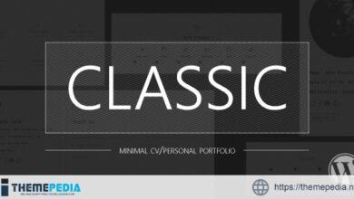 Classic – Minimal CV-Personal Portfolio [Updated Version]