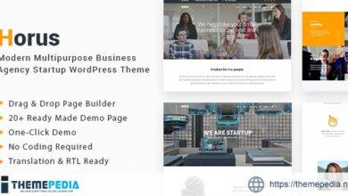 Horus – Multipurpose Business Agency Startup WordPress Theme [Updated Version]