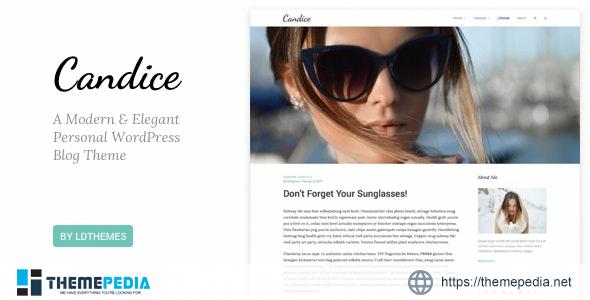 Candice – A Responsive WordPress Blog Theme [Free download]