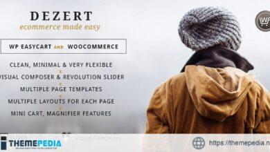 Dezert EasyCart & WooCommerce Shopping Theme [Free download]