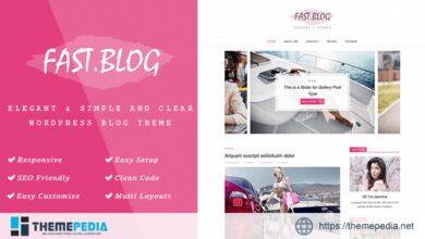 FastBlog – Elegant & Simple WordPress Blog Theme [Updated Version]