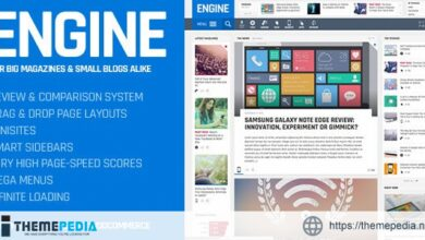 Engine – Drag and Drop News Magazine w- Minisites [Free download]
