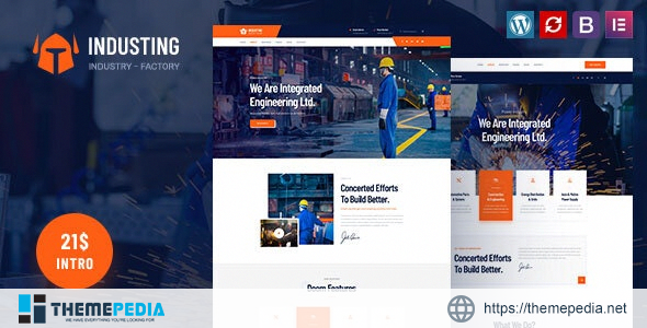 Industing – Factory & Business WordPress Theme [Free download]