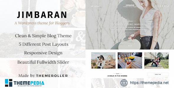Jimbaran – A Clean & Responsive Blog Theme [Free download]