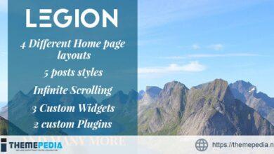 Legion – A Multipurpose Responsive WordPress Blog Theme [nulled]