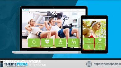 Activity – Calories Calculators and Sport WordPress Theme [Free download]