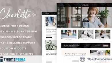 Charlotte – Creative Blog WordPress Theme [Free download]