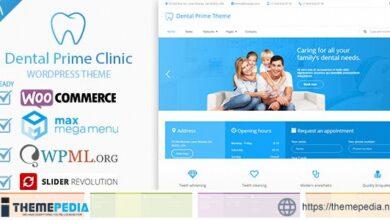 Dental Prime- Medical Health Care & Dentist Center, Multi-Purpose Responsive WordPress Theme [Free download]