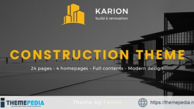 Karion – Construction & Building WordPress Theme [Free download]