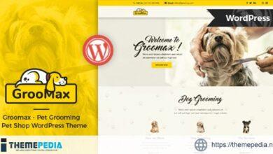 Groomax – Pet Grooming & Shop WordPress Theme [Free download]