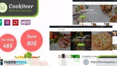 Cookiteer – Food & Recipe WordPress Theme [Free download]