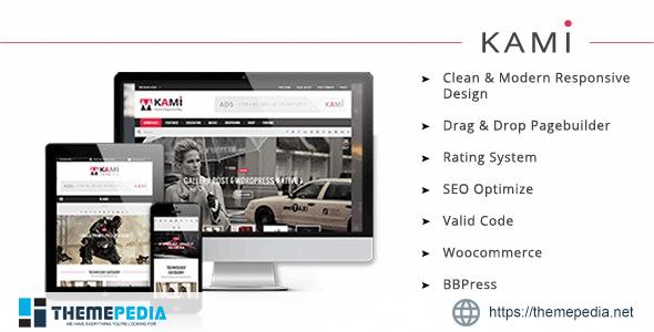 KAMI – Creative Magazine and Blog WordPress Theme [Free download]