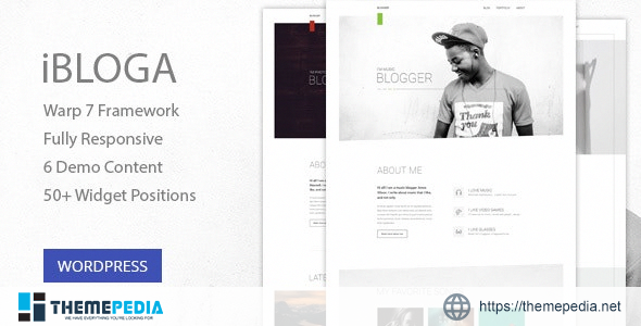 iBloga — Multipurpose Blog Template for creative professions [Free download]