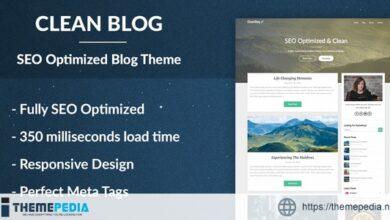 Clean Blog – SEO Optimized WordPress Theme [Free download]