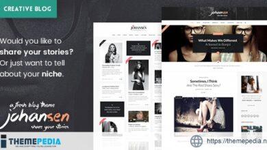 Johansen – Creative Niche Blog Theme [Free download]