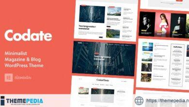 Codate – Modern Magazine and Blog theme [Free download]