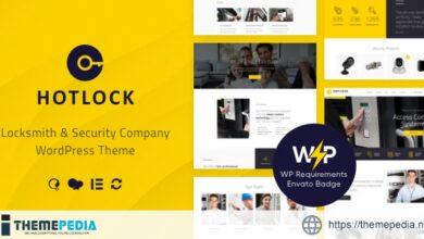 HotLock – Locksmith & Security Systems WordPress Theme [Free download]