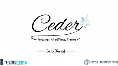 Ceder – Personal WordPress Blog Theme [Free download]