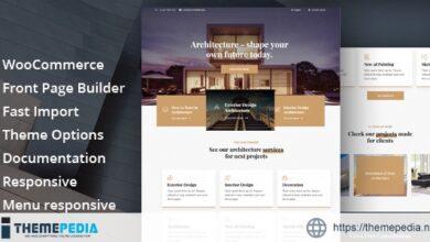 Glauss – Architecture & Creative Design WordPress Theme [Free download]