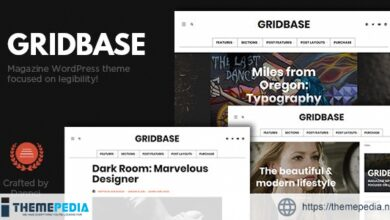 Gridbase – A News and Blog WordPress Theme [Free download]