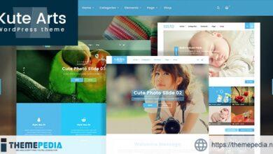 Kute Arts Blog WordPress Theme [Updated Version]