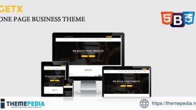 GetX – Onepage Business WordPress Theme [Free download]