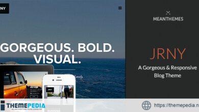 JRNY- A Gorgeous & Responsive WordPress Blog Theme [Free download]