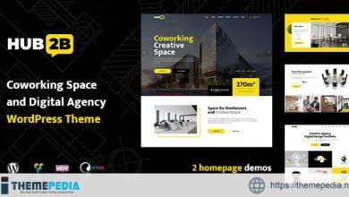 Hub2B – Coworking Space and Digital Agency WordPress Theme [Latest Version]
