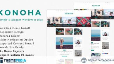 Konoha – A Simple & Elegant WordPress Blog Theme [Free download]