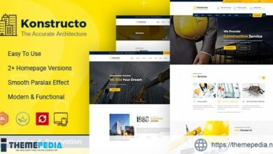 Konstructo – Construction and Architecture WordPress Theme [Free download]