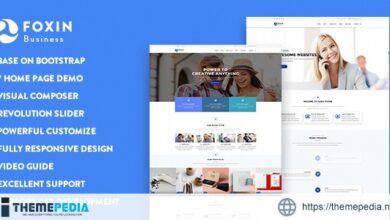 Foxin – Responsive Business WordPress Theme [Updated Version]