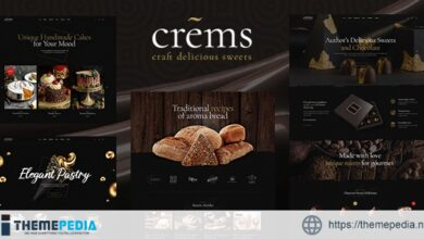 Crems – Bakery, Chocolate Sweets & Pastry WordPress Theme [Free download]