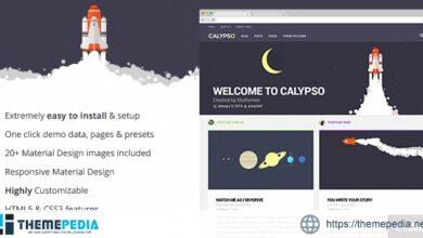 Calypso – Material Design WordPress Theme [Free download]