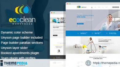 EcoClean – House Cleaning Company WordPress Theme [Updated Version]