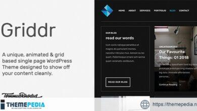 Griddr – Animated Grid Creative WordPress Theme [Free download]