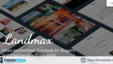 Landmax WP – Minimal Blog Theme [Updated Version]