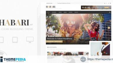 Habari – A Responsive WordPress Blog Theme [Free download]