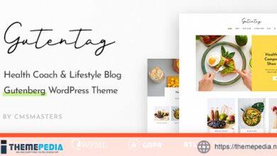 GutenTag – 100% Gutenberg Blog WordPress Theme [nulled]