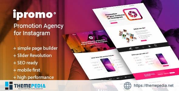 iPromo – Instagram Agency WordPress Theme [nulled]
