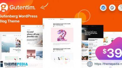Gutentim – Modern Gutenberg WordPress Blog Theme [Latest Version]