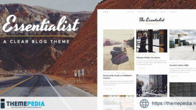 Essentialist — A Narrative WordPress Blog Theme [Free download]